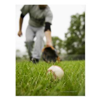 野球を遊んでいる人 ポストカード
