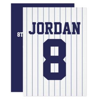 野球ジャージー-スポーツのテーマの誕生会 カード