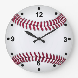 野球ファンの柱時計 ラージ壁時計