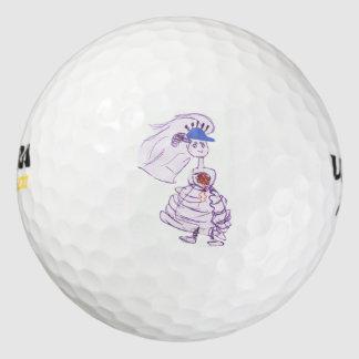 野球ファンの花嫁 ゴルフボール
