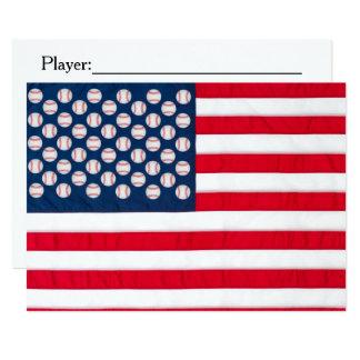 野球及び米国旗の招待 カード