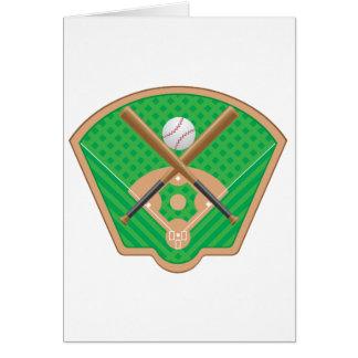 野球場のメッセージカード カード