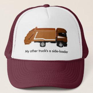 野球帽、茶色のごみ収集車 キャップ