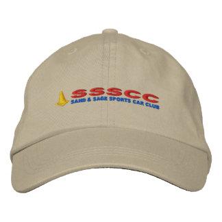 野球帽: SSSCCのロゴ 刺繍入りキャップ