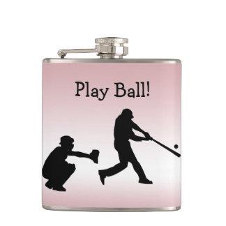 野球演劇の球のピンクのガーリーなスポーツのフラスコ フラスク