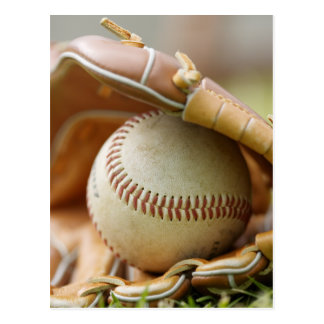 野球用グラブおよび球 ポストカード
