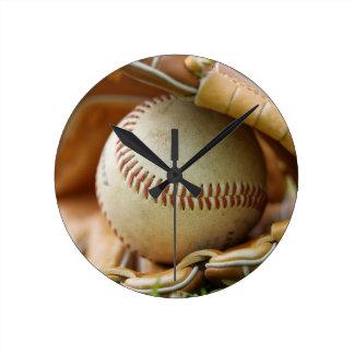 野球用グラブおよび球 ラウンド壁時計