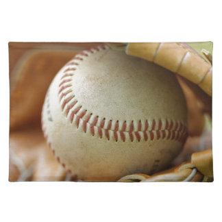 野球用グラブおよび球 ランチョンマット