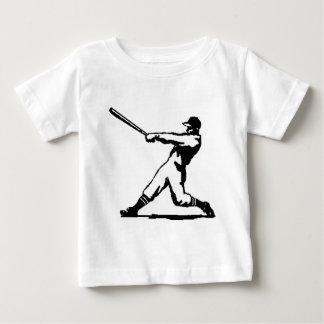 野球衝突 ベビーTシャツ