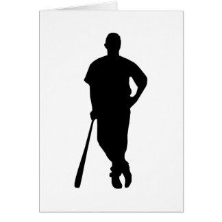 野球選手のシルエット カード
