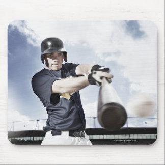 野球選手の振動野球用バット2 マウスパッド