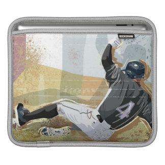 野球選手滑走の2 iPadスリーブ