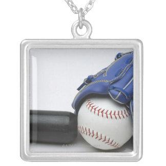 野球項目 シルバープレートネックレス