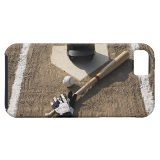 野球、こうもり、バッティング・グローブおよび野球 iPhone SE/5/5s ケース