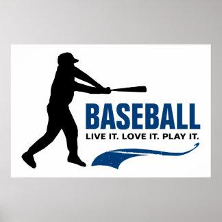 野球: それは住んでいます。 それを愛して下さい。 それを遊んで下さい ポスター