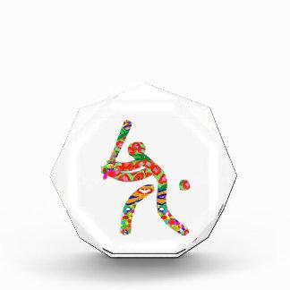 野球: ゲームはプレーヤーのチャンピオンのチーム球を遊ばします 表彰盾