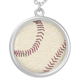 野球 シルバープレートネックレス