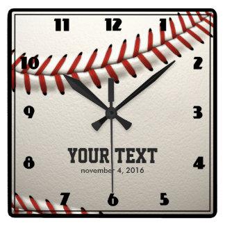 野球 スクエア壁時計