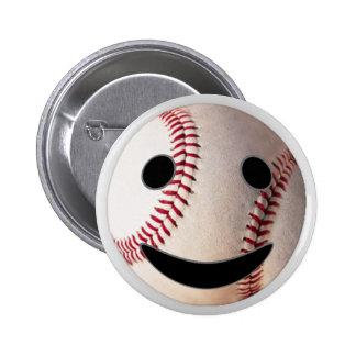 野球|スマイリーマーク|加えて下さい|あなたの|単語 缶バッジ