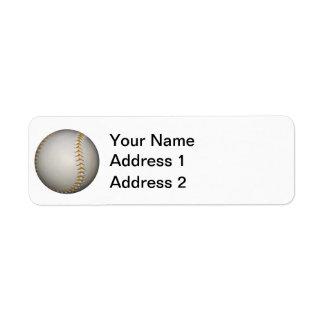 野球/ソフトボールw/Orangeのステッチ ラベル