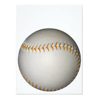 野球/ソフトボールw/Orangeのステッチ 14 X 19.1 インビテーションカード