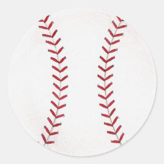 野球 丸形シールステッカー
