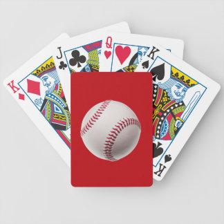 野球-赤のスポーツのテンプレートの野球 バイスクルトランプ