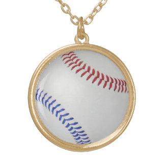 野球Fan-tastic_Color Laces_All-American ゴールドプレートネックレス