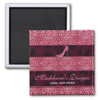 野生およびガーリーなピンクのチータのプリント マグネット