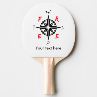 野生および自由な旅行者のコンパス 卓球ラケット