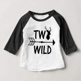 野生および2つの矢の第2誕生日のワイシャツ ベビーTシャツ