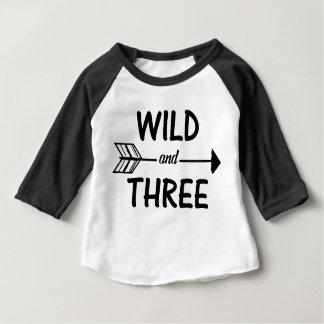 野生および3つの矢の第3誕生日のワイシャツ ベビーTシャツ