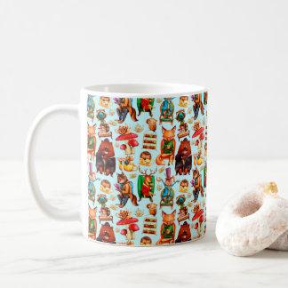 野生のお茶会パターンマグ コーヒーマグカップ