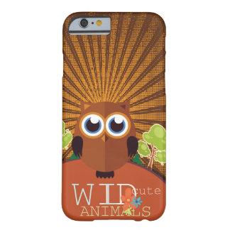 野生のかわいい動物-フクロウ BARELY THERE iPhone 6 ケース