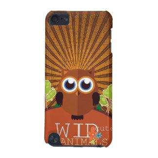 野生のかわいい動物-フクロウ iPod TOUCH 5G ケース