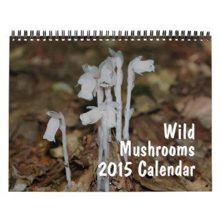 野生のきのこの写真撮影2015年 カレンダー