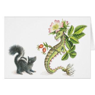 野生のばら色のドラゴン及びスカンク-カード カード