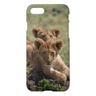 野生のアフリカのライオンの子の精通したiPhone 7の場合 iPhone 8/7 ケース