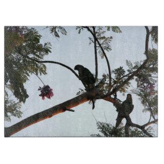 野生のアマゾンオウムの鳥動物の野性生物 カッティングボード