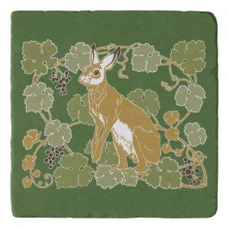 野生のウサギ トリベット
