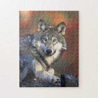 野生のオオカミのパズル ジグソーパズル