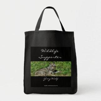 野生のオオカミの動物愛好家のデザイン トートバッグ