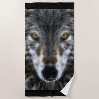 野生のオオカミは装飾を注目します ビーチタオル