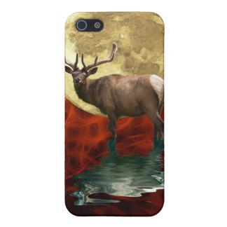 野生のオオシカ、Wapiti、シカの野性生物 iPhone 5 カバー