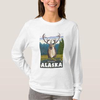 野生のカリブー- Skagway、アラスカ Tシャツ