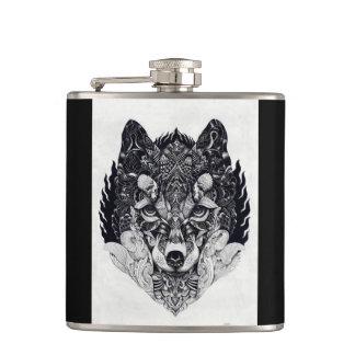 野生のキツネオオカミのフラスコ フラスク