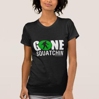 野生のギアのデザイン- Squatchinの行った緑の白 Tシャツ