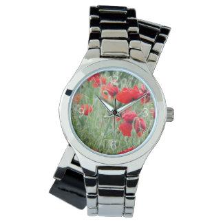 野生のケシ 腕時計