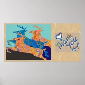-野生のコレクションの抽象芸術ありがとう ポスター