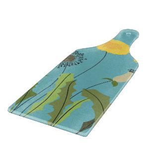 野生のタンポポのプリント カッティングボード